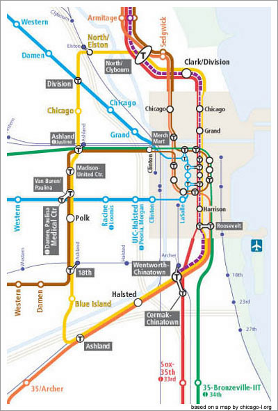A CTA Map for 2055 Gapers Block Detour Chicago